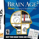 Brain Age 2 More Training In Minutes A Day Nintendo DS