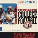 Bill Walsh College Football SNES Great Condition Fast Shipping