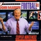John Madden Football '93 SNES Great Condition Fast Shipping