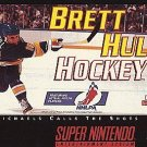 Brett Hull Hockey SNES Great Condition Fast Shipping