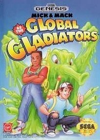 Mick & Mack As The Global Gladiators Sega Genesis Great Condition