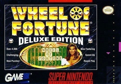 Wheel Of Fortune Deluxe Edition SNES Great Condition Fast Shipping