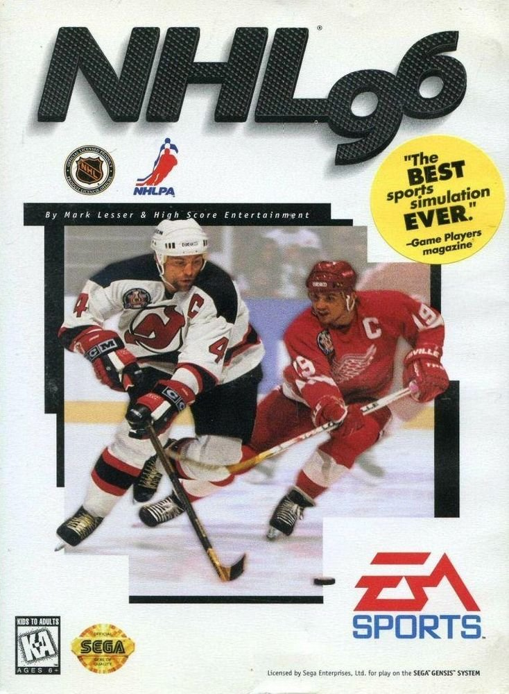 NHL '96 Sega Genesis Great Condition Fast Shipping