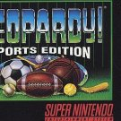 Jeopardy! Sports Edition SNES Great Condition