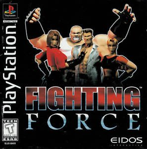 Fighting Force PS1 Great Condition Complete Fast Shipping