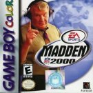 Madden NFL 2000 Gameboy Color Great Condition Fast Shipping