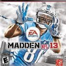 Madden NFL 13 PS3 Great Condition Complete Fast Shipping
