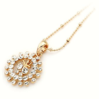 Yellow Gold Plated + Cubic Zirconia Necklace