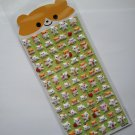 Q-lia Puffy Hamster Puffy Sticker Sheet ~ Kawaii