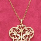18k Vermeil Diamond Cut Butterfly Necklace