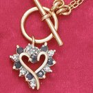 18K Vermeil Necklace with Sapphire Heart Pendant