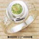Round Inset Peridot Ring