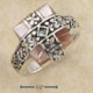Square Pink Mother of Pearl Ring