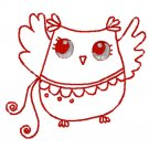 Red Work Curly Tail Embroidery File