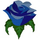 Multi Blue Color Rose Embroidery File