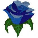 Multi Blue Color Rose Embroidery File