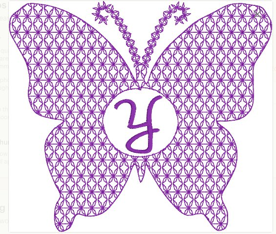 Motif Filled Butterfly Embroidery File