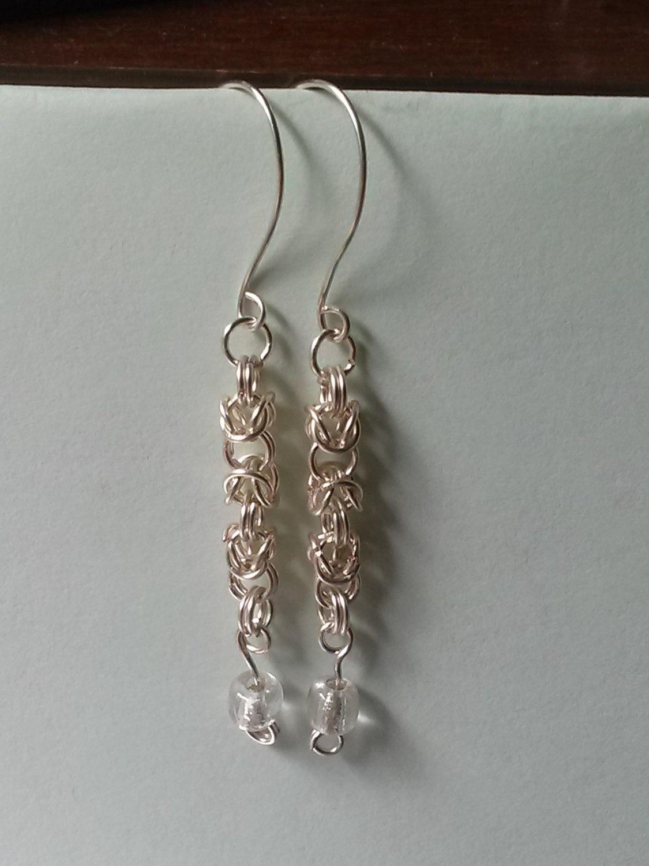 Hand-woven Byzantine Knot Earrings