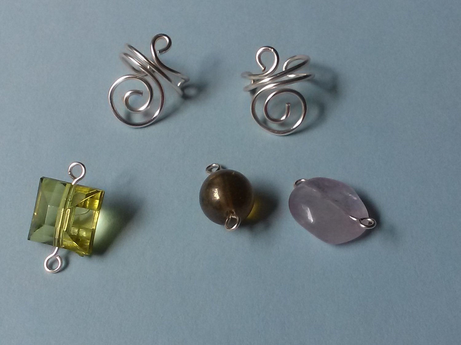 Spiral Earcuffs with Exchangeable Dangles