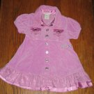 Guess Baby 6 9 month lilac purple velvety cotton dress