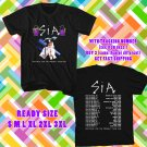 WOW SIA NOSTALGIC FOR THE PRESENT TOUR 2016 BLACK TEE S-3XL ASTR111