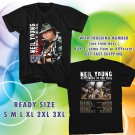 WOW NEIL YOUNG REBEL CONTENT TOUR 2016 BLACK TEE S-3XL ASTR