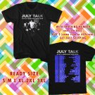 WOW JULY TALK NORTH AMERICAN TOUR 2016 BLACK TEE S-3XL ASTR