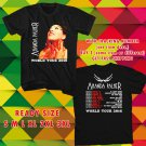 WOW AMANDA PALMER WORLD TOUR 2016 BLACK TEE S-3XL ASTR 445