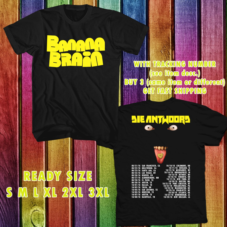 WOW BANANA BRAIN SINGLE FROM DIEANTWOORD TOUR 2016 BLACK TEE S-3XL ASTR