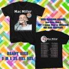 WOW MAC MILLER THE DIVINE FEMININE TOUR 2016 BLACK TEE S-3XL ASTR