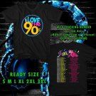 WOW I LOVE THE 90'S TOUR 2016 BLACK TEE S-3XL ASTR