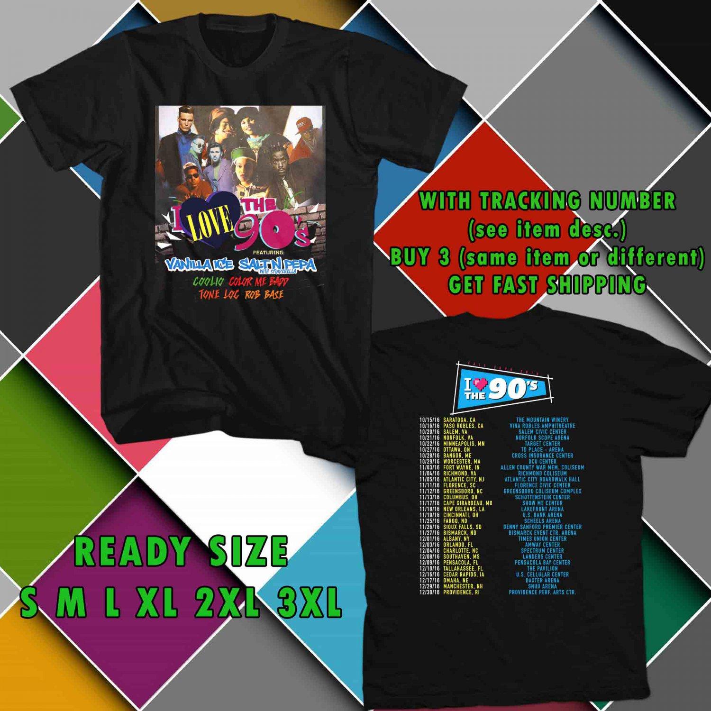 WOW I LOVE THE 90'S TOUR 2016 BLACK TEE S-3XL ASTR 387