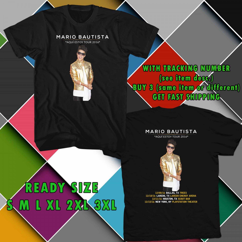 WOW MARIO BAUTISTA AQUI ESTOY TOUR 2016 BLACK TEE S-3XL ASTR 187