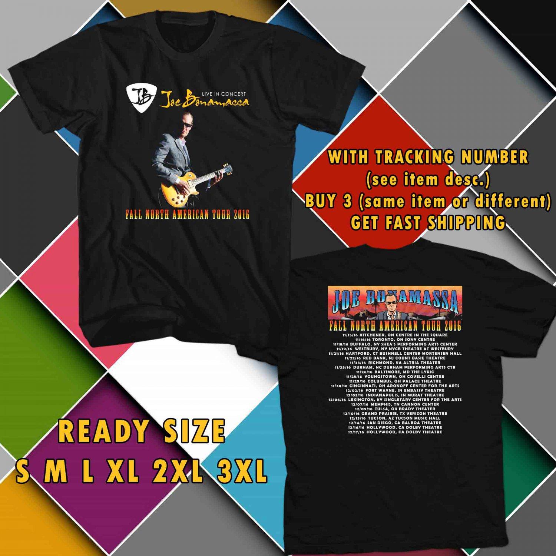 WOW JOE BONAMASSA TOUR 2016 BLACK TEE S-3XL ASTR 032