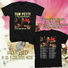 WOW TOM PETTY AND THE HEARTBREAKERS TOUR 2017 BLACK TEE S-3XL ASTR 554