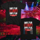 WOW SIMPLE PLAN 15 YEARS ANNIVERSARY TOUR 2017 BLACK TEE S-3XL ASTR 332