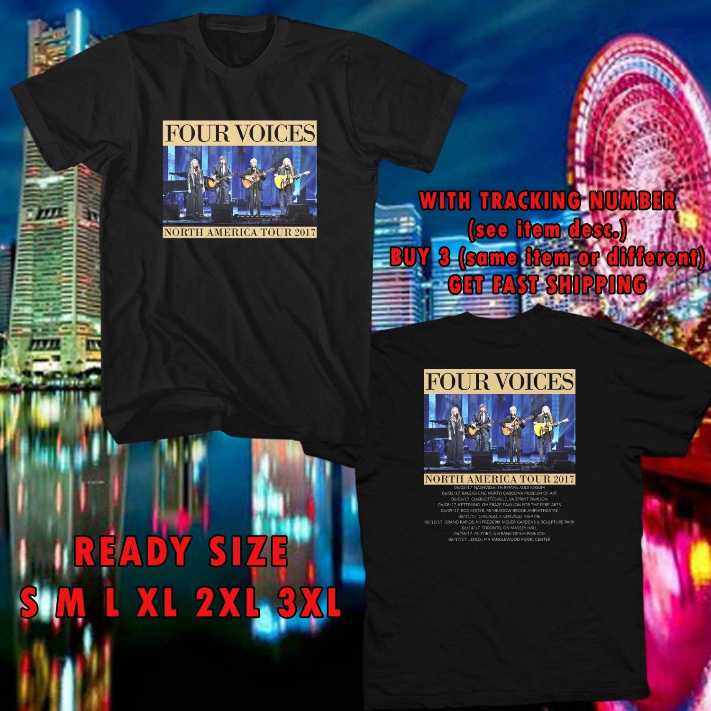 WOW FOUR VOICE TOUR 2017 BLACK TEE S-3XL ASTR