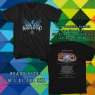 WOW HAWKWIND LEGENDS OF SPACE ROCK TOUR 2017 BLACK TEE S-3XL ASTR