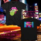 NEW EXHIBITIONISM ROLLING STONES 2017 black TEE W DATES DMTR