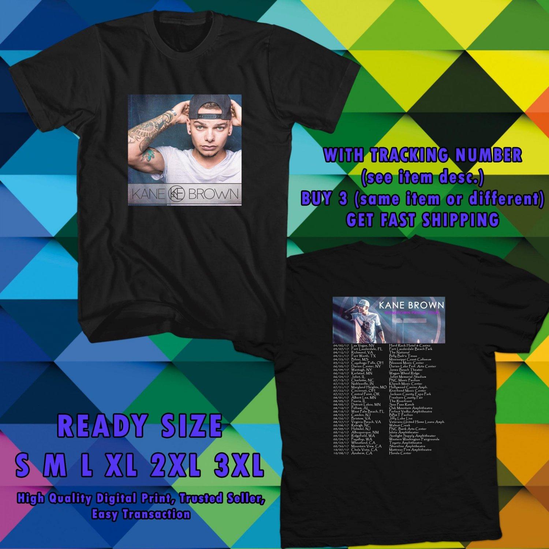 NEW KANE BROWN HOMETOWN PROUD TOUR 2017 black TEE W DATES DMTR