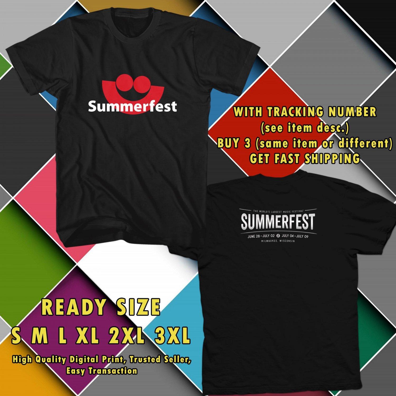 NEW summer festival 50th JUN 2017 black TEE W DATES DMTR