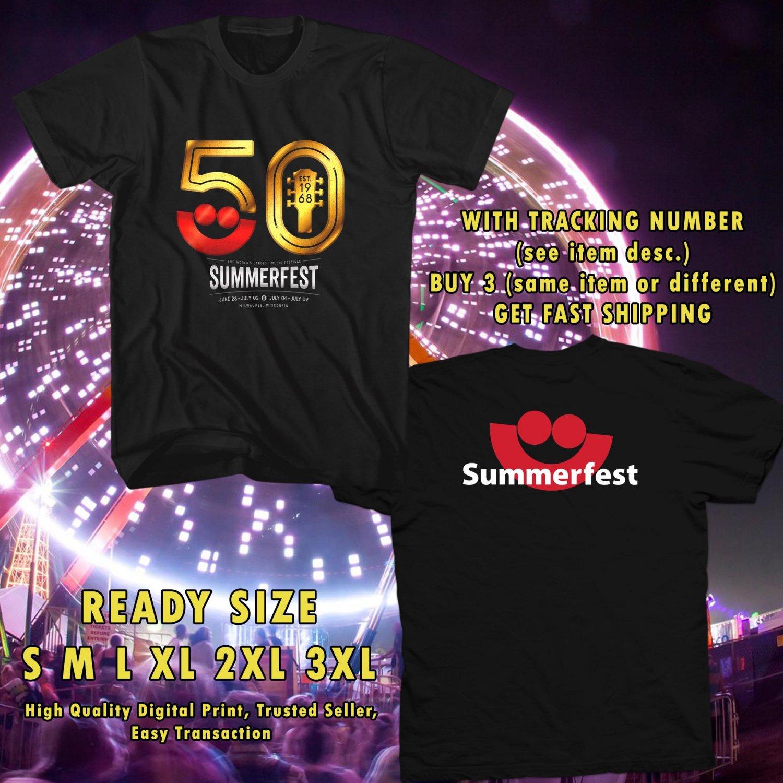 NEW summer festival 50th JUN 2017 black TEE W DATES DMTR  332