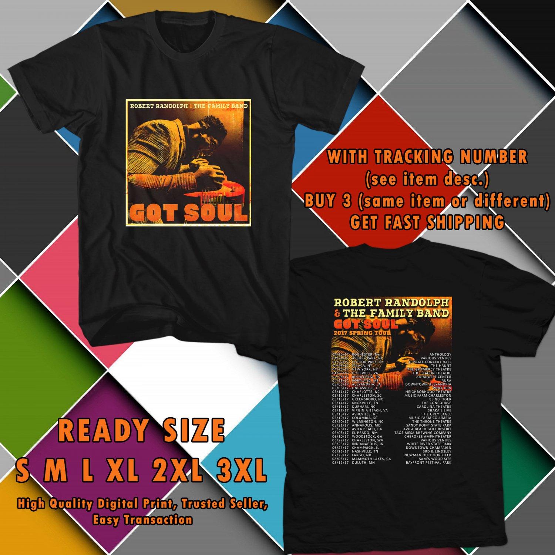 NEW ROBET LANDOPH AND THE FAMILY BAND GOT SOUL TOUR 2017 black TEE 2 SIDE DMTR