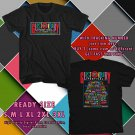 NEW GLASTONBURY FEST 2017 black TEE 2 SIDE DMTR 886