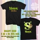 NEW SHREK THE MUSICAL TOUR 2017 BLACK TEE 2 SIDE DMTR