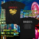NEW BROODS NEW ALBUM CONSCIOUS TOUR 2017 BLACK TEE W DATES DMTR