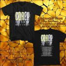 NEW COREY FELDMAN : COREY'S HEAVENLY TOUR 2017 BLACK TEE W DATES DMTR 221