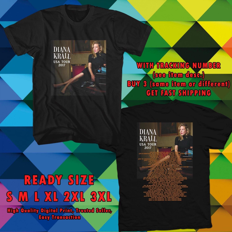 HITS DIANA KRALL USA TOUR 2017 BLACK TEE 2SIDE ASTR 887