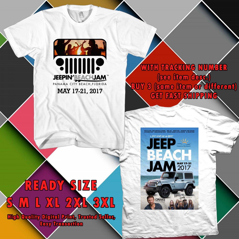 HITS JEEP BEACHJAM FESTIVAL 2017 WHITE TEE'S 2SIDE MAN WOMEN ASTR