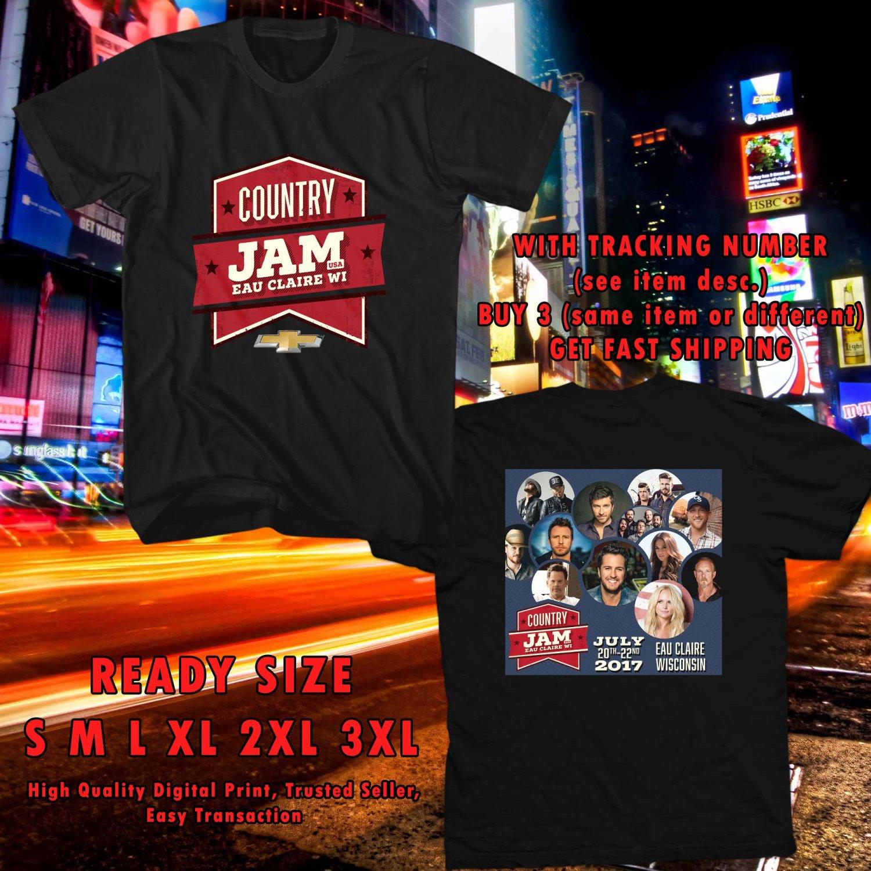 HITS COUNTRY JAM WISCONSIN FESTIVAL JUN 2017 BLACK TEE'S 2SIDE MAN WOMEN ASTR